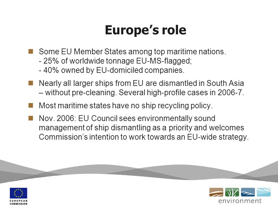 Europes role Some EU Member States among top maritime nations.