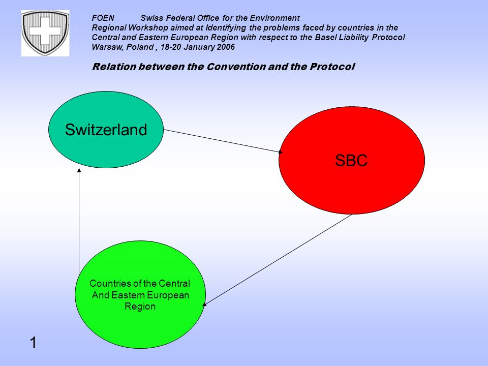 FOENSwiss Federal Office for the Environment Regional Workshop aimed at Identifying the problems faced by countries in the Central and Eastern Europea