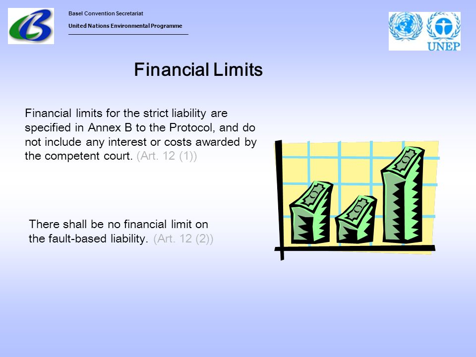 Basel Convention Secretariat United Nations Environmental Programme ___________________________________ Financial Limits Financial limits for the stri
