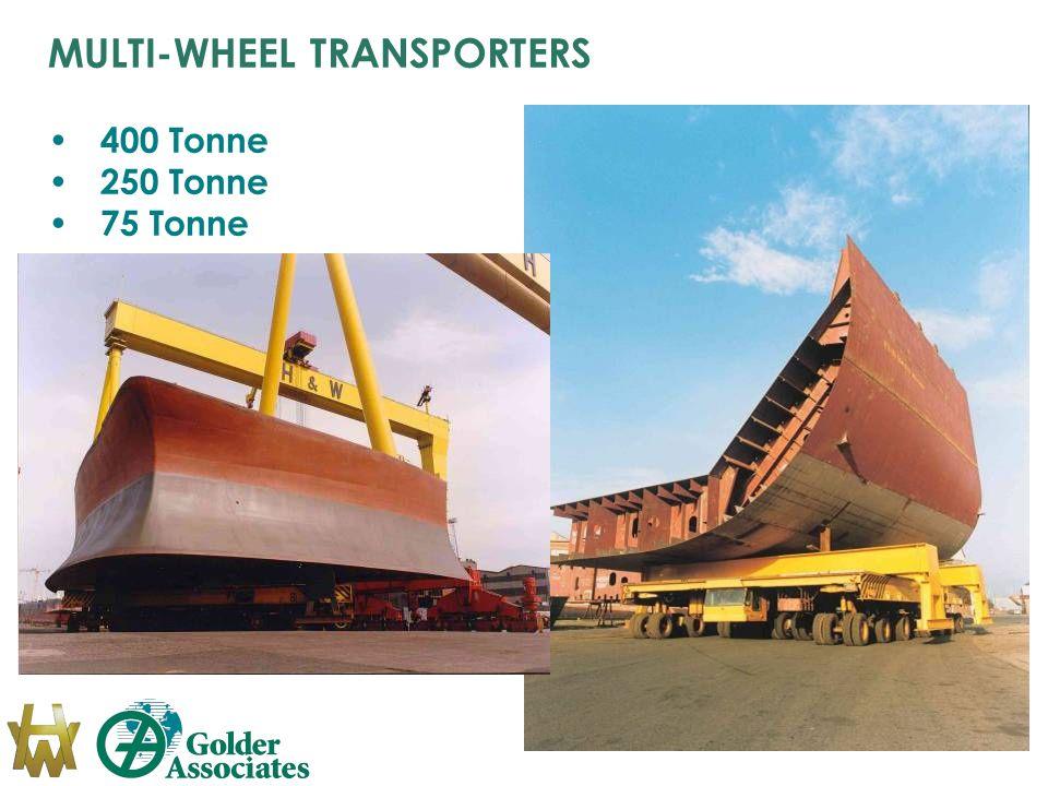 MULTI-WHEEL TRANSPORTERS 400 Tonne 250 Tonne 75 Tonne