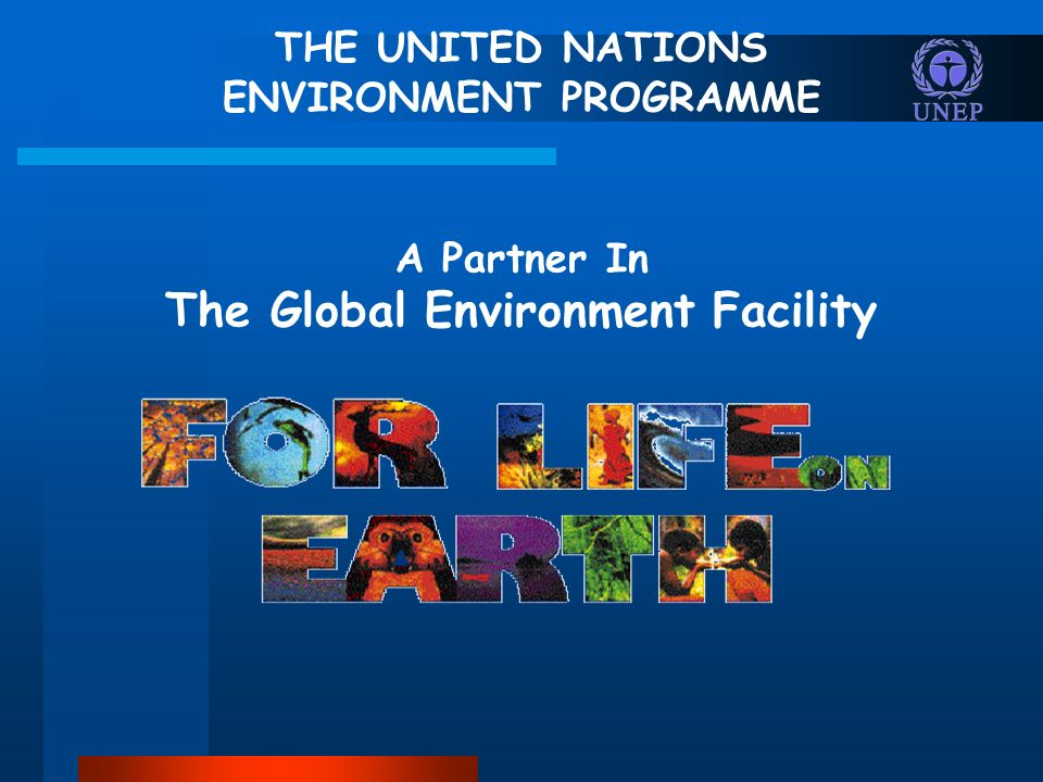 THE UNITED NATIONS ENVIRONMENT PROGRAMME A Partner In The Global Environment Facility
