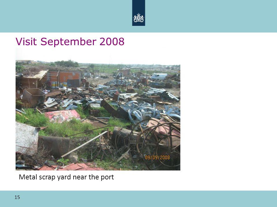 15 Visit September 2008 Metal scrap yard near the port