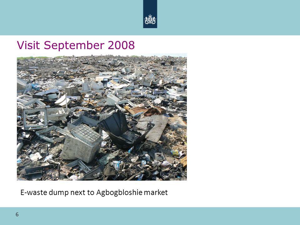 6 Visit September 2008 E-waste dump next to Agbogbloshie market