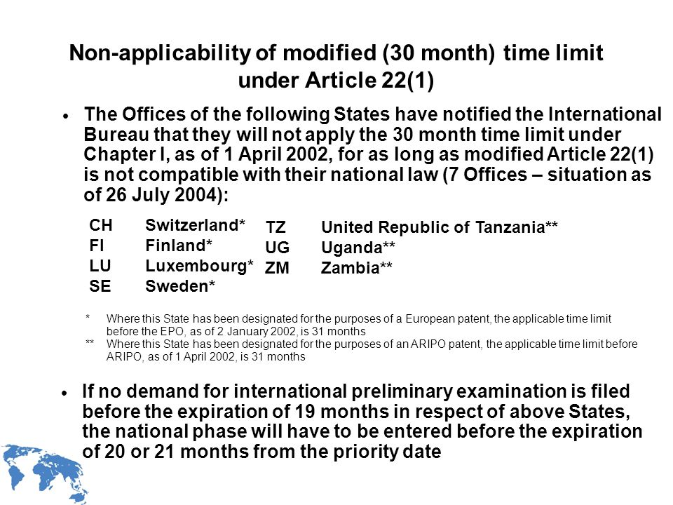 WIPO Recentdv03-9 EISPE system: Start of international preliminary examination IPEA will start the international preliminary examination when it is in possession of: the demand the applicable fees the ISR and the written opinion of the ISA but not before the expiration of the applicable time limit under Rule 54bis.1(a) unless the applicant expressly request an early start