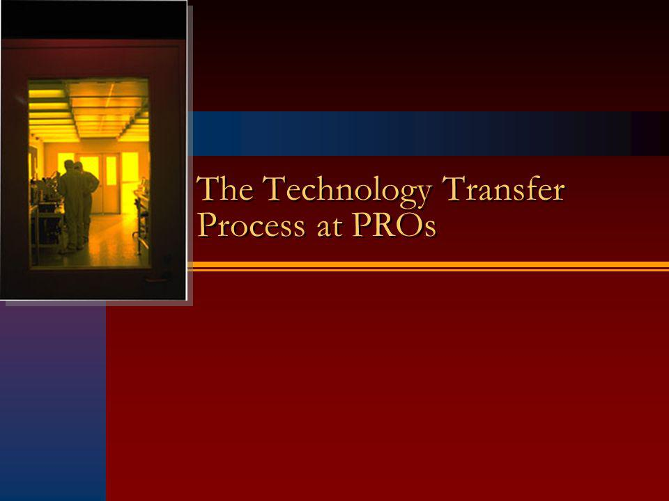 The Technology Transfer Process at PROs