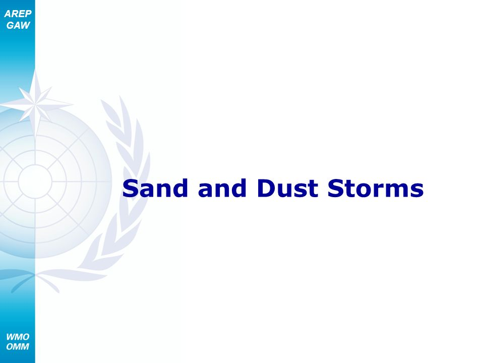 AREP GAW Sand and Dust Storms