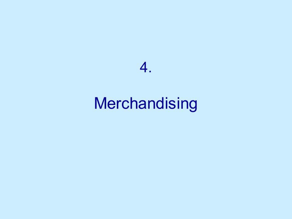 4. Merchandising