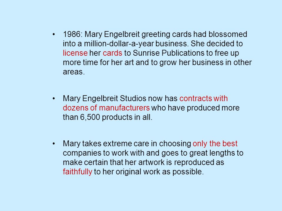 1986: Mary Engelbreit greeting cards had blossomed into a million-dollar-a-year business.