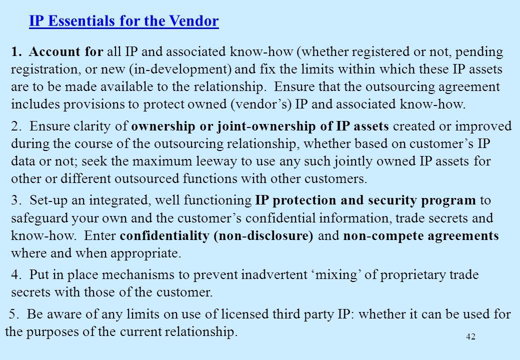 42 IP Essentials for the Vendor 1.