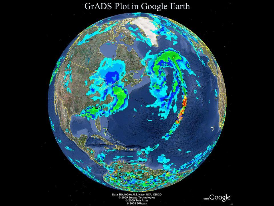 GrADS Plot in Google Earth