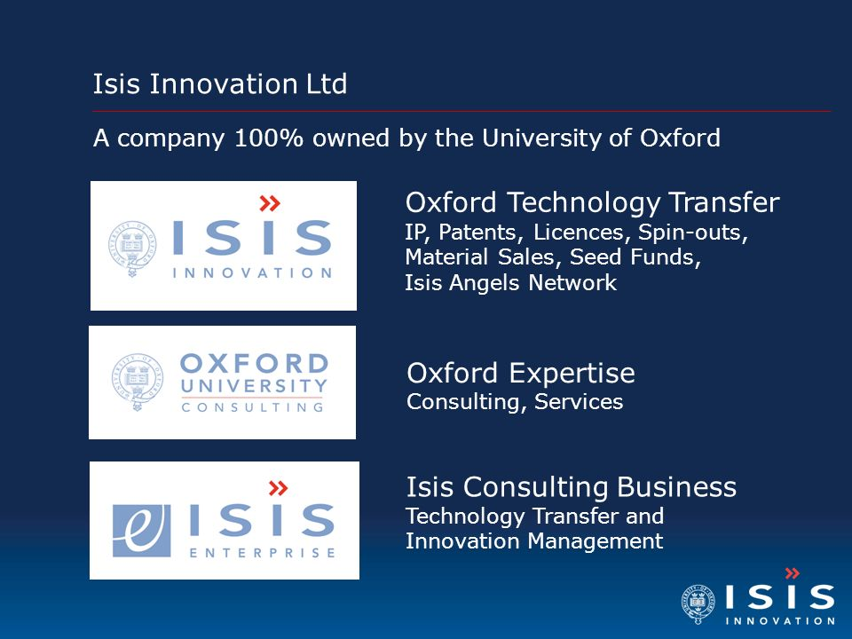 Isis Innovation Ltd Oxford Technology Transfer IP, Patents, Licences, Spin-outs, Material Sales, Seed Funds, Isis Angels Network Oxford Expertise Cons