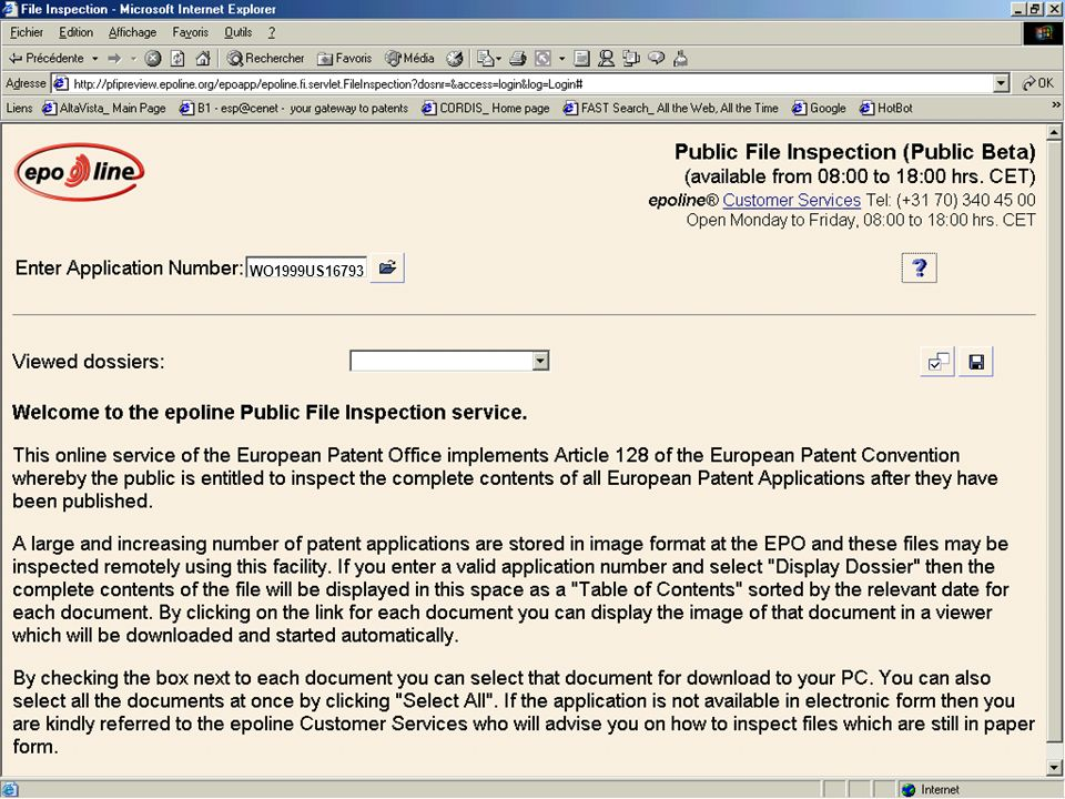 The European Patent Office European Patent Office WO1999US16793