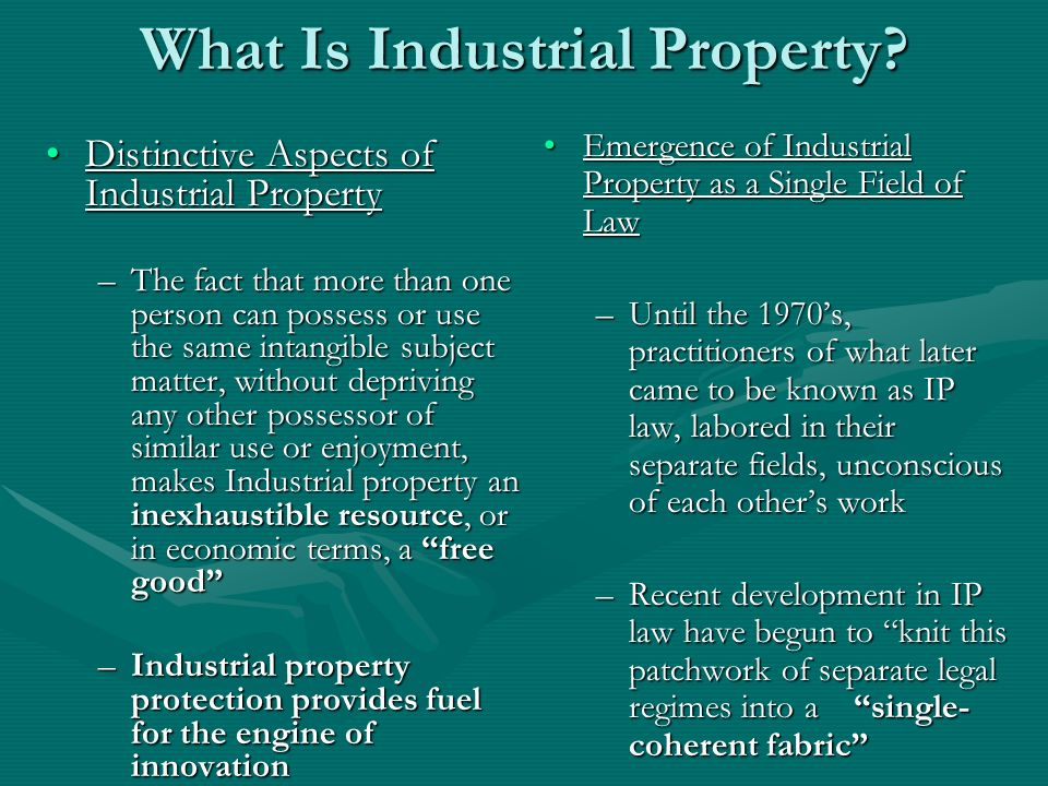 What Is Industrial Property.