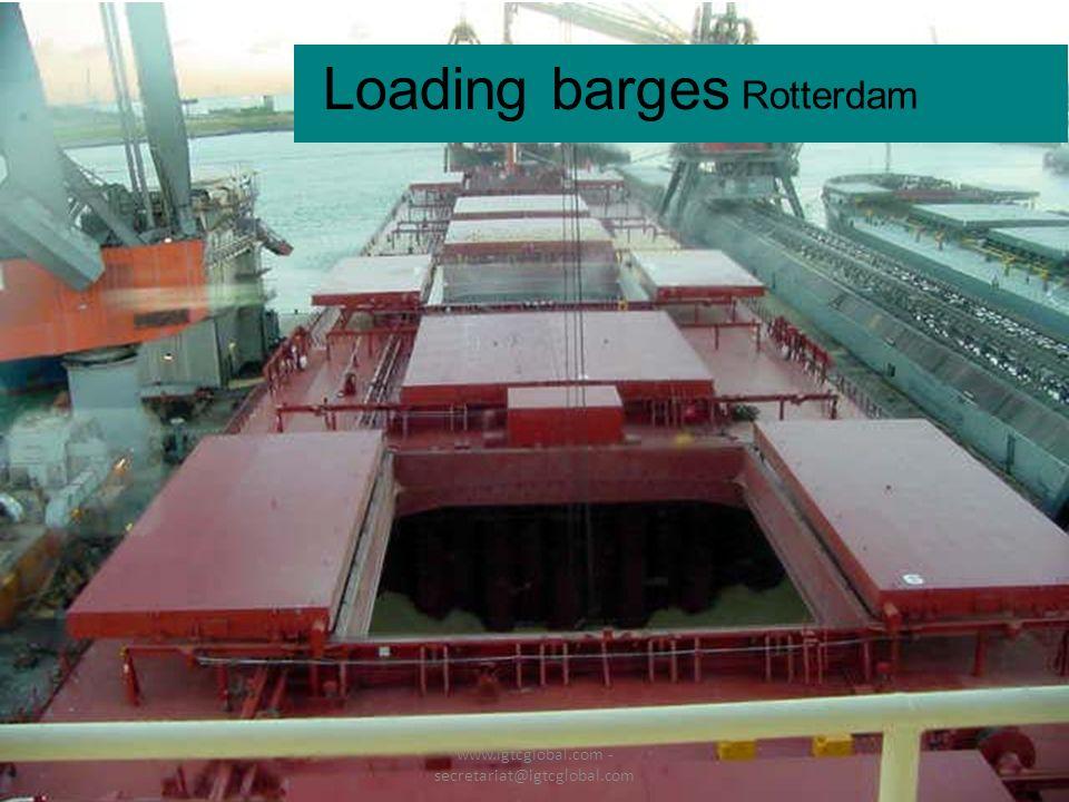 26 Loading barges Rotterdam www.igtcglobal.com - secretariat@igtcglobal.com