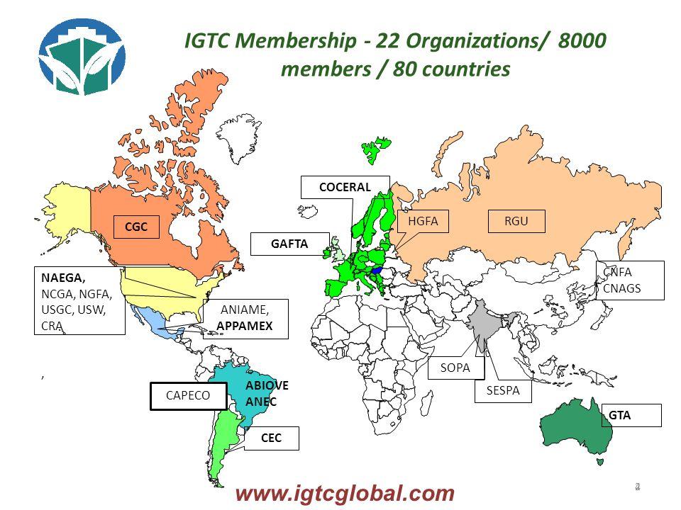 4 COCERAL GAFTA NAEGA, NCGA, NGFA, USGC, USW, CRA, ANIAME, APPAMEX HGFA SESPA RGU ABIOVE ANEC CEC GTA CGC IGTC Membership - 22 Organizations/ 8000 members / 80 countries CNFA CNAGS www.igtcglobal.com 2 SOPA CAPECO