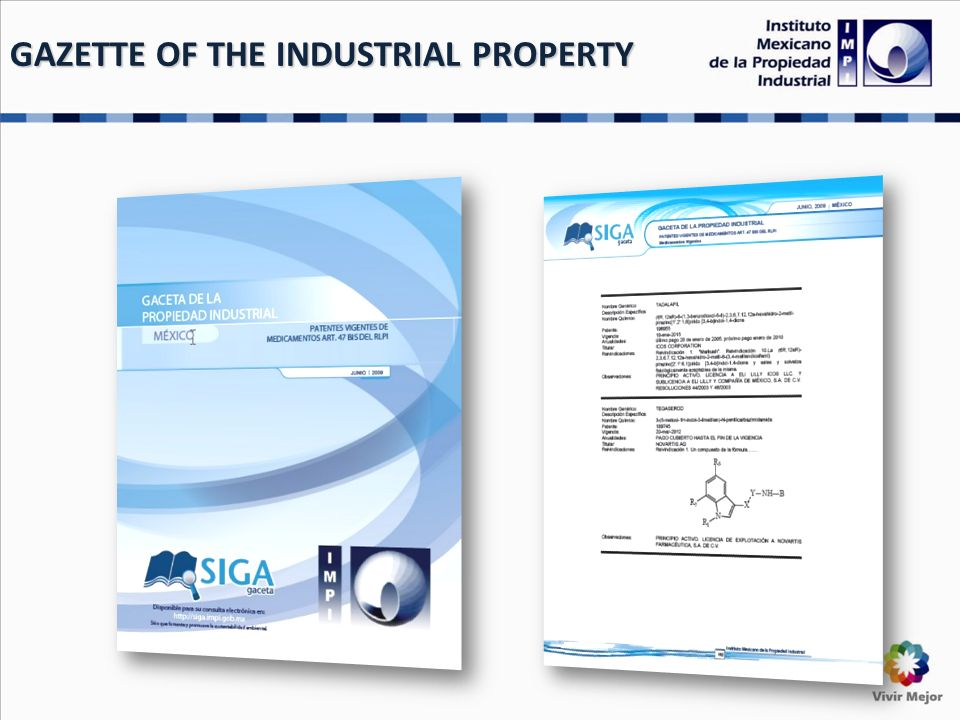 GAZETTE OF THE INDUSTRIAL PROPERTY
