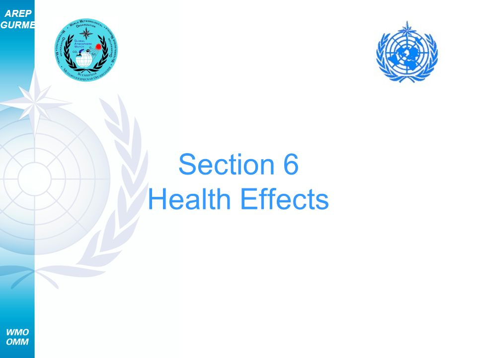 AREP GURME 22 Section 6 – Health Effects Public Health Risks Are Significant Particles are linked to: Premature death from heart and lung diseases Aggravation of heart and lung diseases, with increased: Hospital admissions Doctor and ER visits Medication use School and work absences
