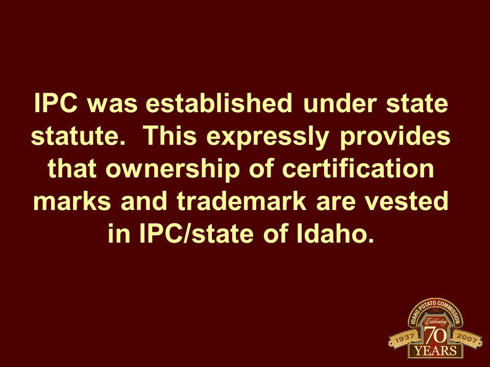 IPC was established under state statute.