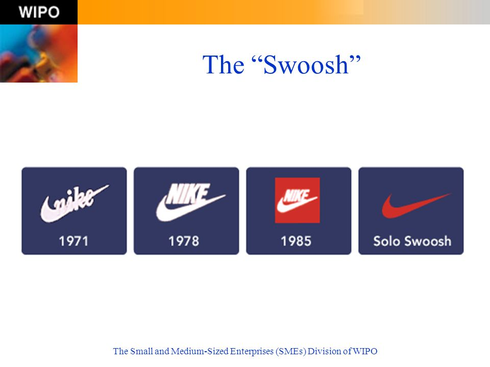 The Small and Medium-Sized Enterprises (SMEs) Division of WIPO The Swoosh