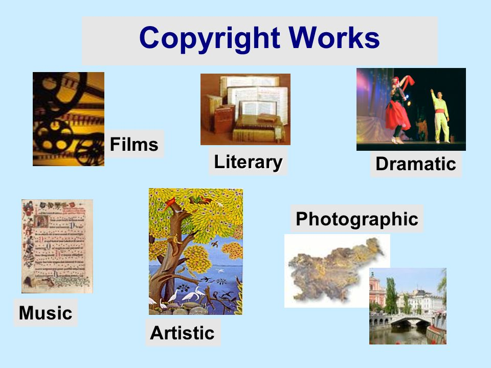 Literary Films Dramatic Music Photographic Artistic Copyright Works
