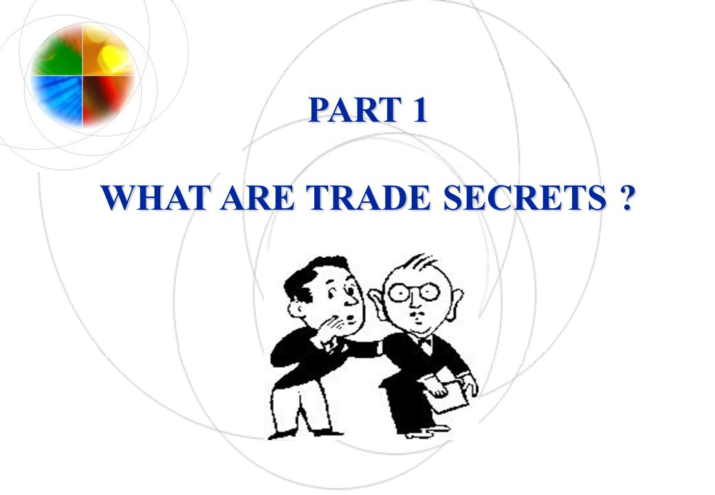 PART 1 WHAT ARE TRADE SECRETS ?