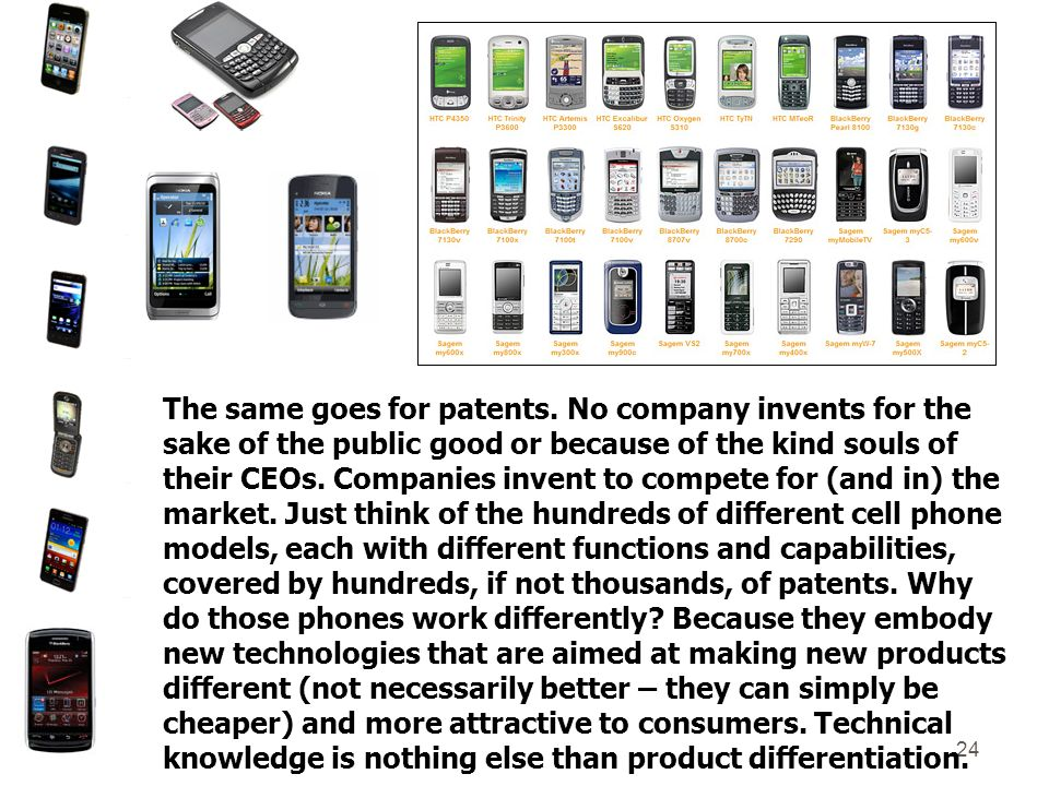 24 The same goes for patents.