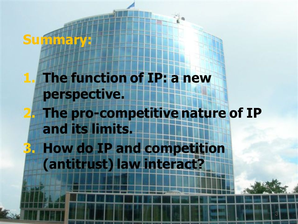 Summary: 1.The function of IP: a new perspective.