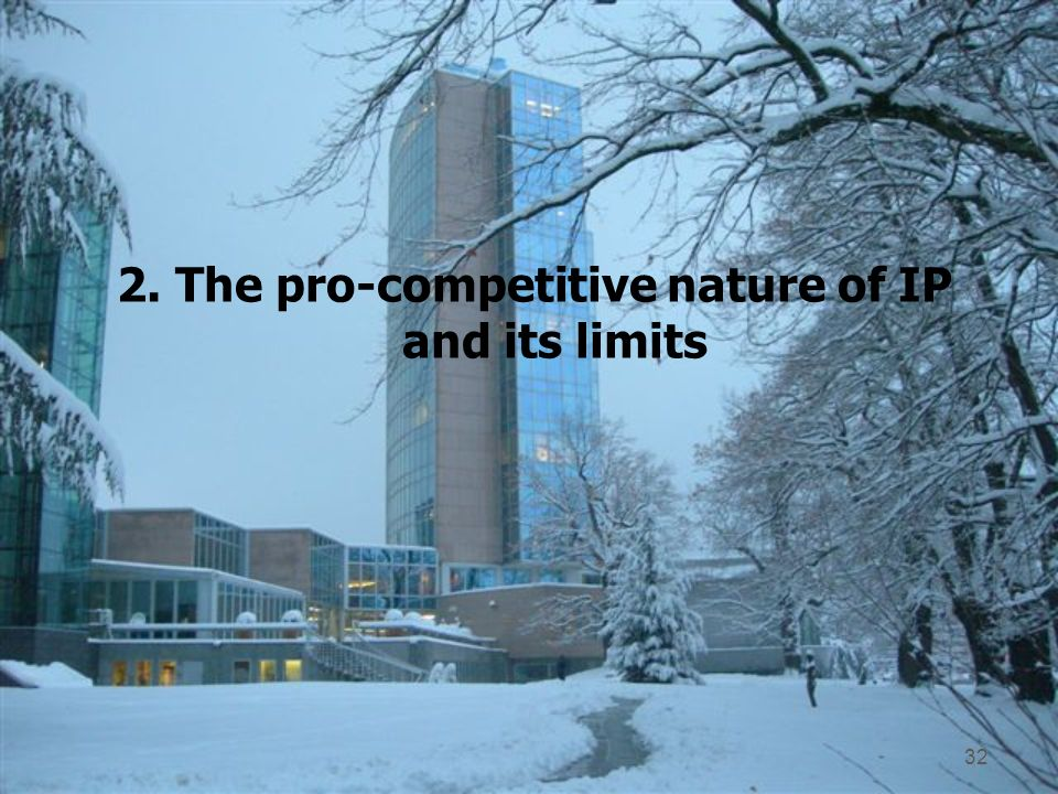 2. The pro-competitive nature of IP and its limits 32