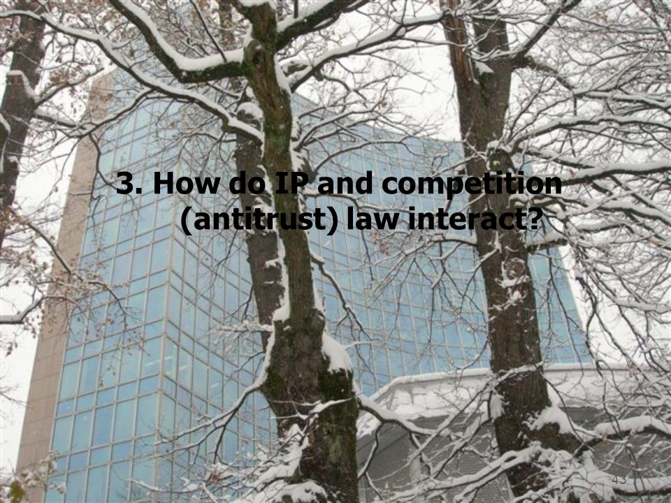 3. How do IP and competition (antitrust) law interact 43