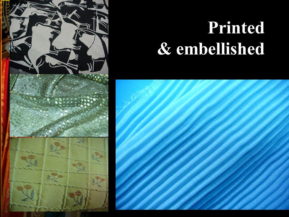 Printed & embellished