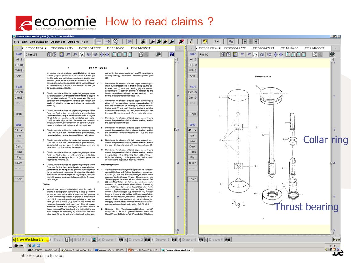 How to read claims ? Thrust bearing Collar ring