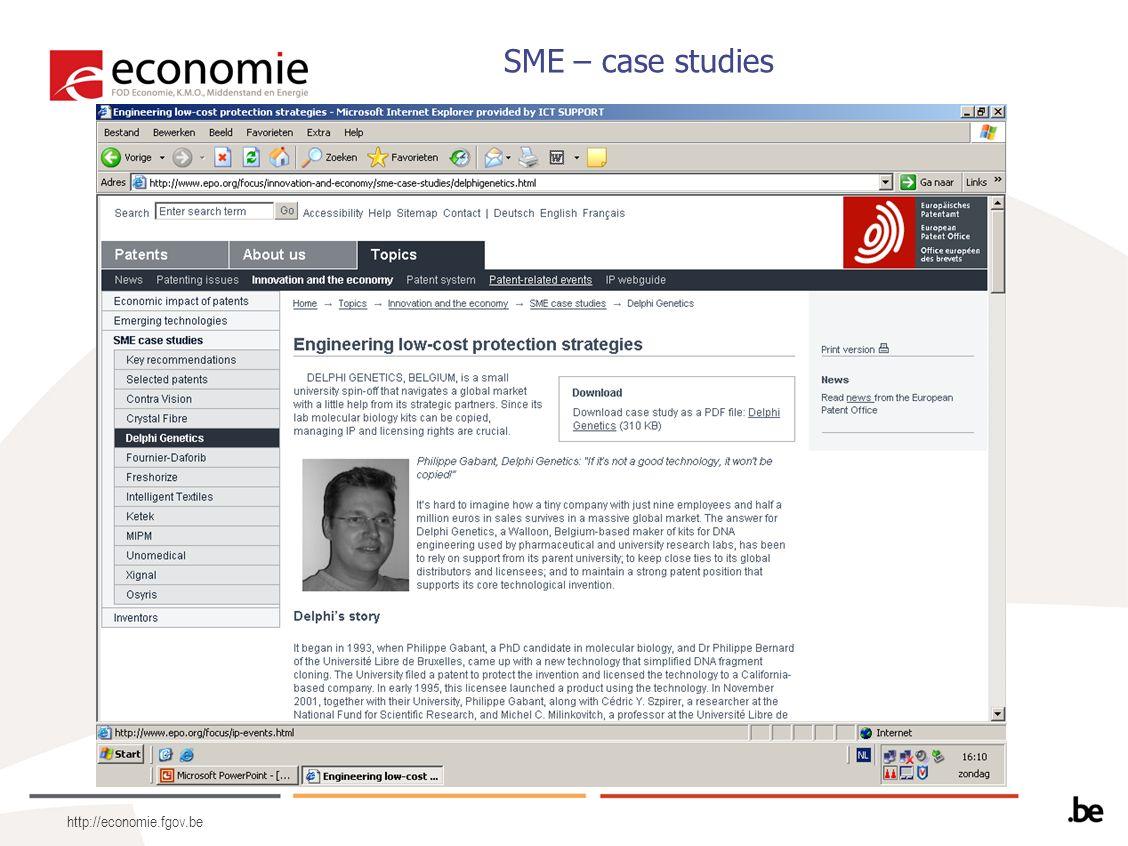 http://economie.fgov.be SME – case studies