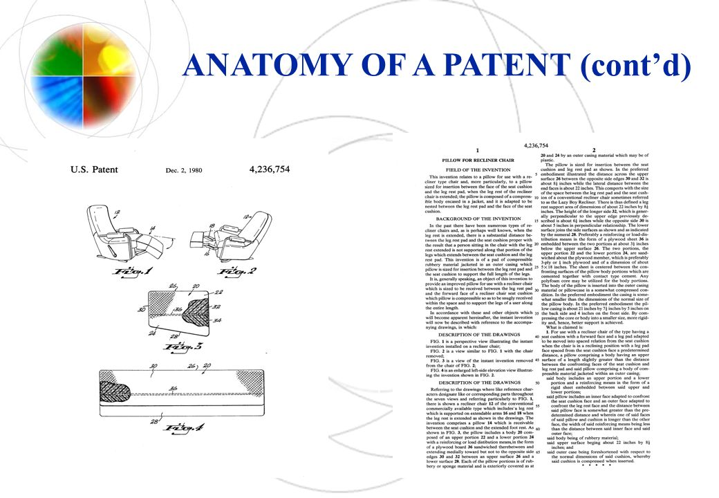 ANATOMY OF A PATENT (contd)