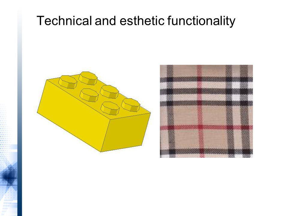 Technical and esthetic functionality