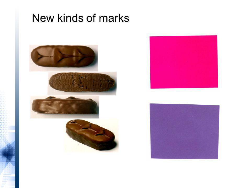 New kinds of marks