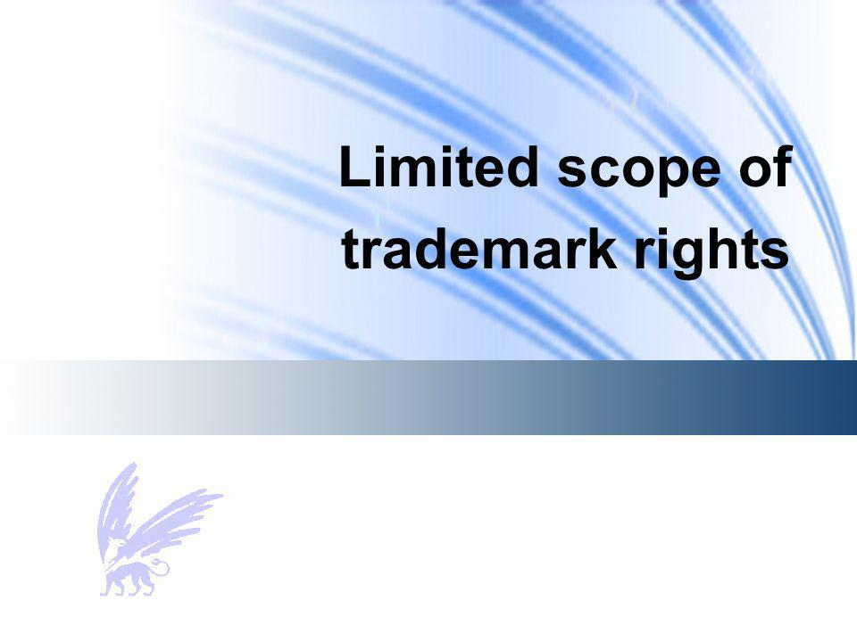 Limited scope of trademark rights