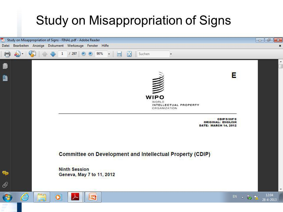 Study on Misappropriation of Signs