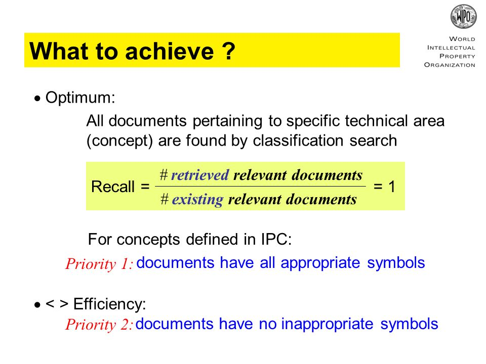 document is unclassified has wrong / inappropriate classification has outdated / invalid classification non-exhaustive / incomplete classification > appropriate symbols are missing > given symbols are not specific enough varying classifications of family members excessive classification Phenomenology of quality issues