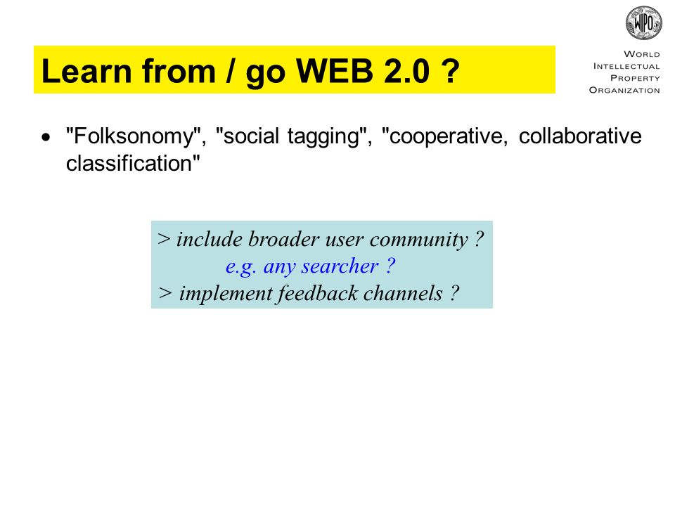 Learn from / go WEB 2.0 .