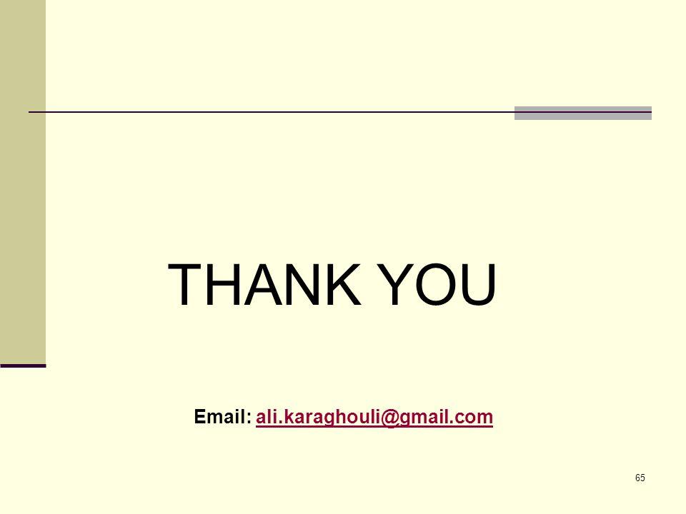 65 THANK YOU Email: ali.karaghouli@gmail.comali.karaghouli@gmail.com