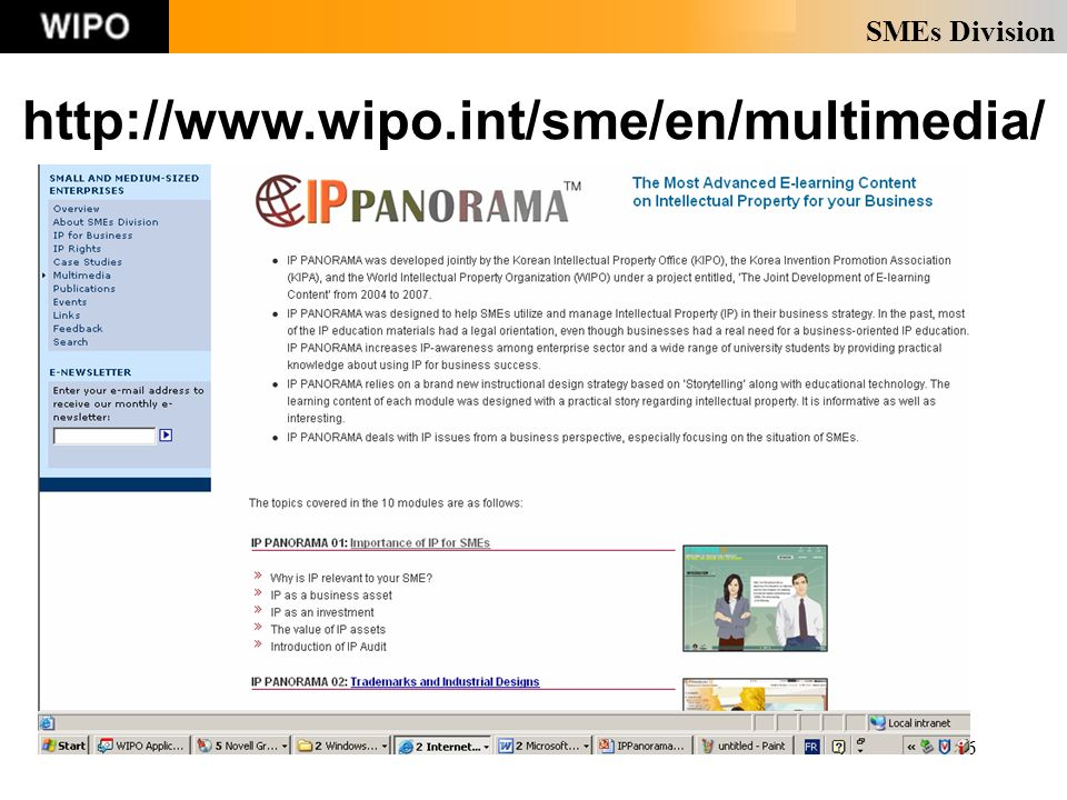 SMEs Division 26 http://www.wipo.int/sme/en/multimedia/