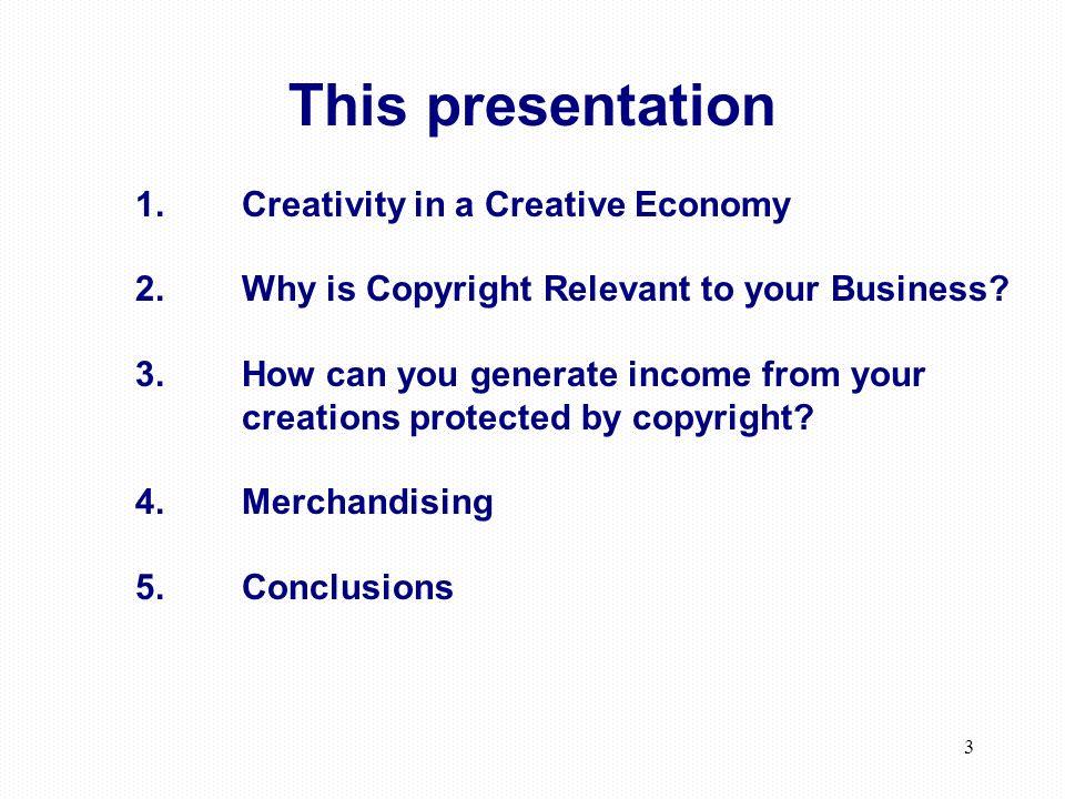 3 This presentation 1.