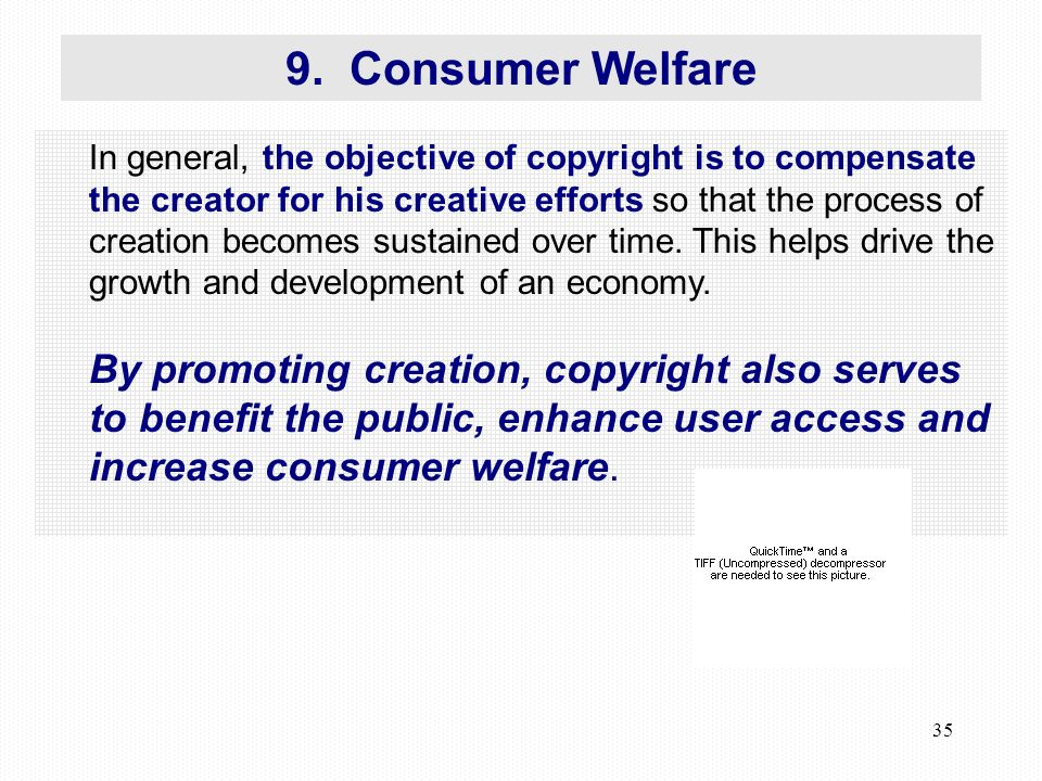 35 In general, the objective of copyright is to compensate the creator for his creative efforts so that the process of creation becomes sustained over time.