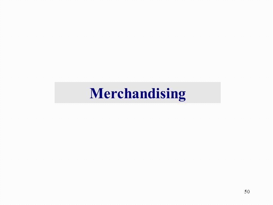 50 Merchandising