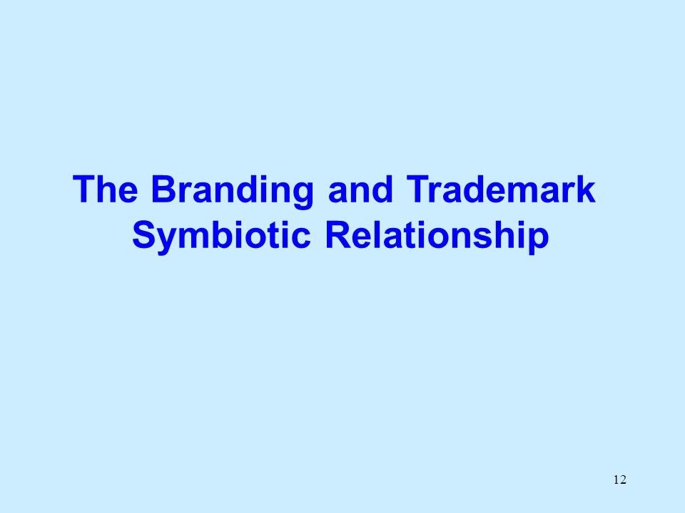 12 The Branding and Trademark Symbiotic Relationship