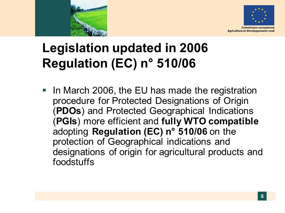 6 Regulation 510/2006 On GIs and Designations of Origin Agr.