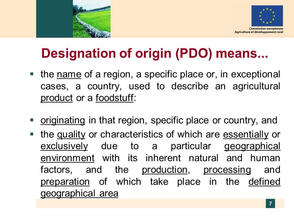 8 Protected Geographical Indication (PGI) means...