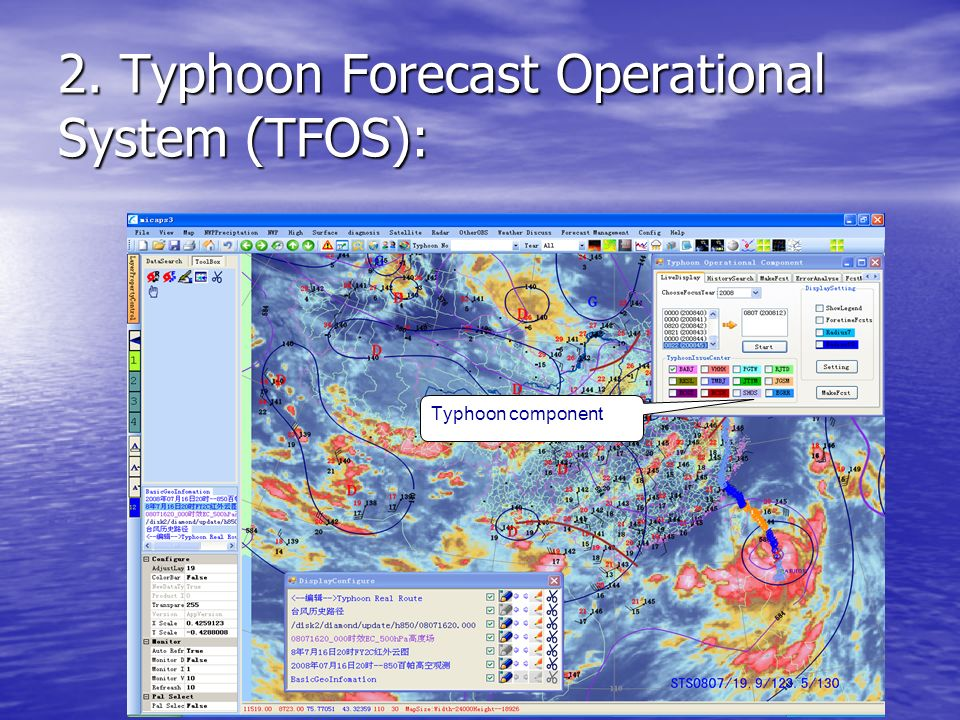 2. Typhoon Forecast Operational System (TFOS): Typhoon component