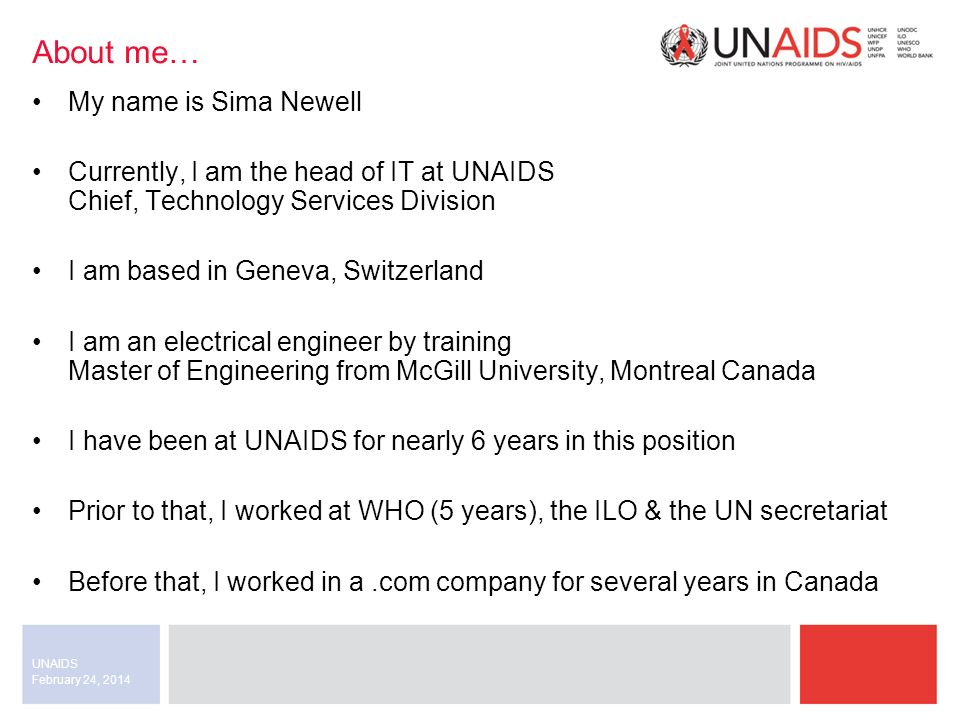 February 24, 2014 UNAIDS Questions or comments? Thank you.