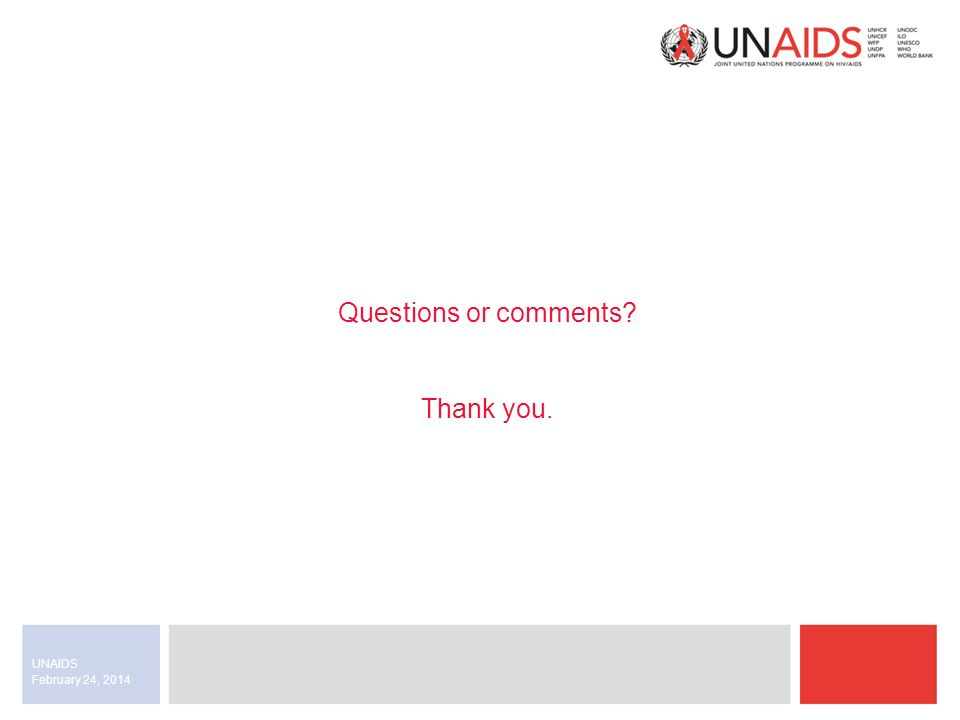 February 24, 2014 UNAIDS Questions or comments Thank you.